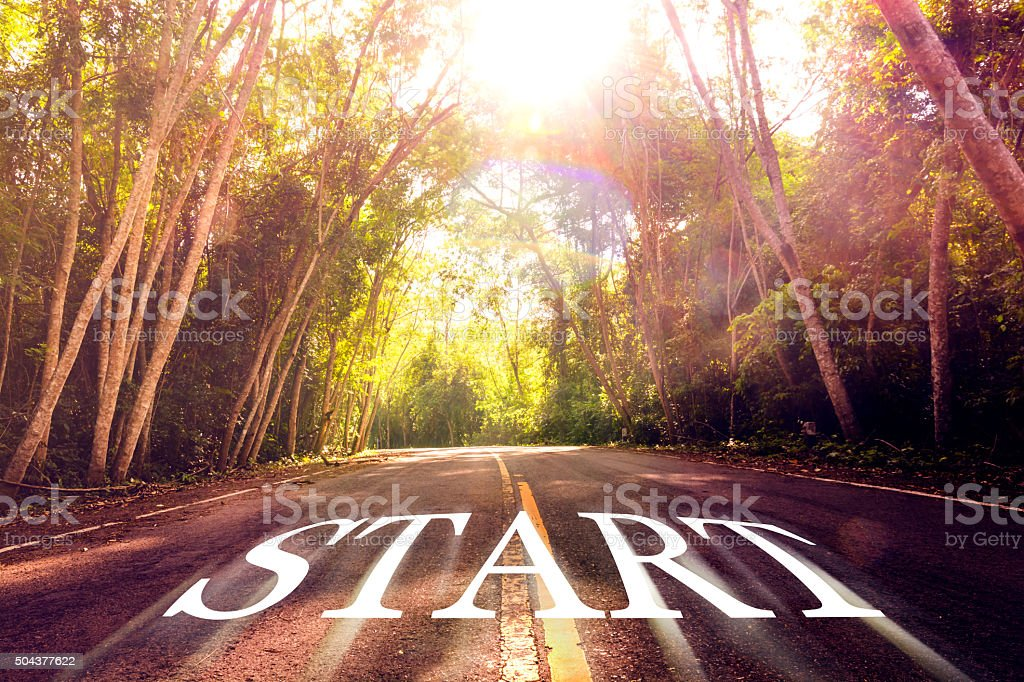 Word Start on the road. royalty-free stock photo