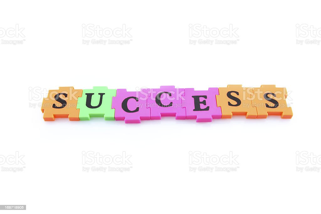 Word success with alphabet puzzle royalty-free stock photo