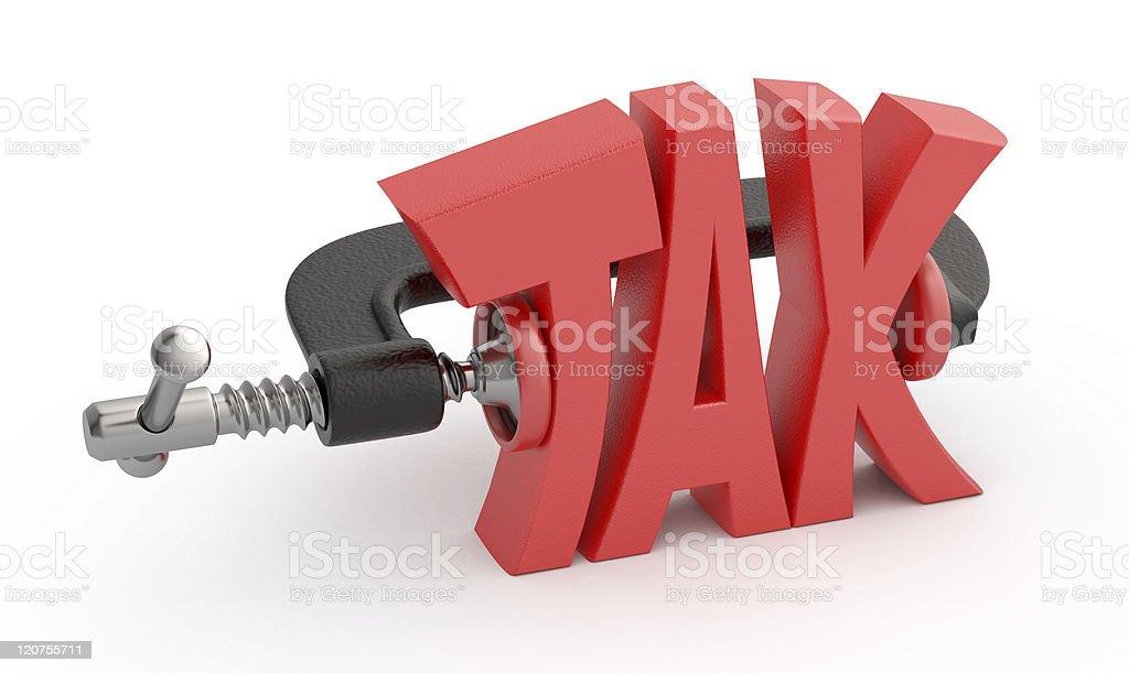 Word tax hamstrung. stock photo