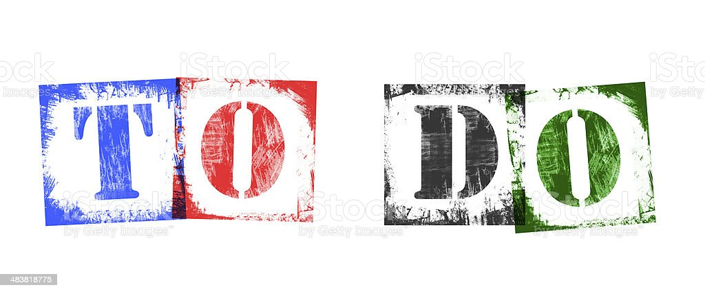 Word To Do from Stamp Letters, Retro Grunge Design royalty-free stock photo