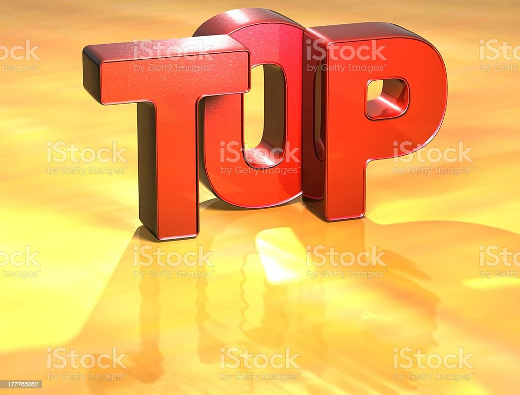 Word Top on yellow background royalty-free stock photo