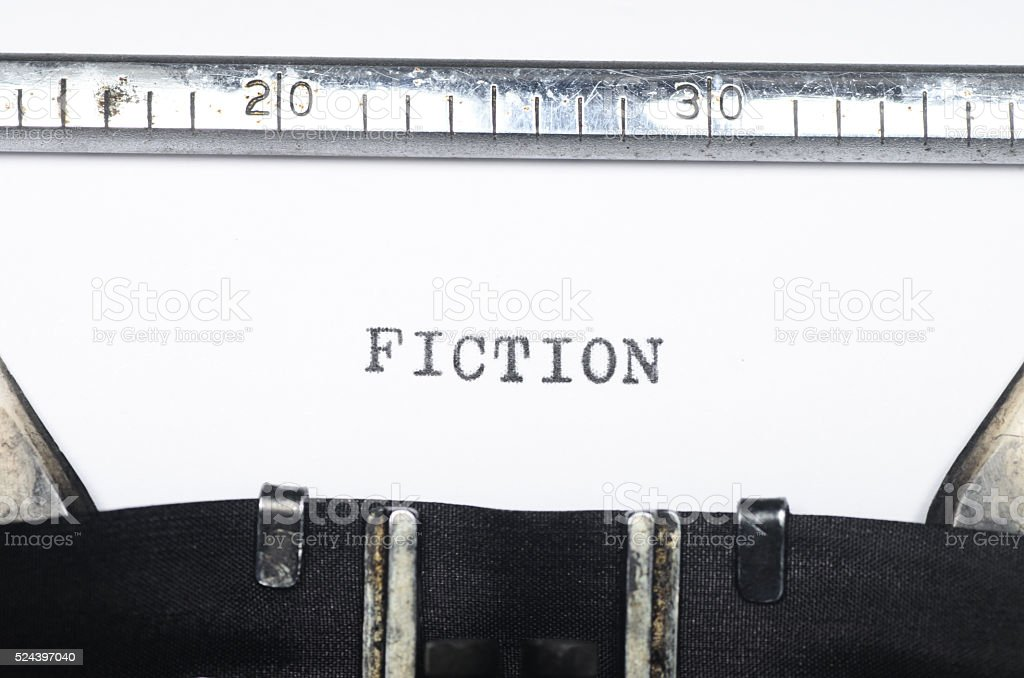 Word typed on typewriter stock photo