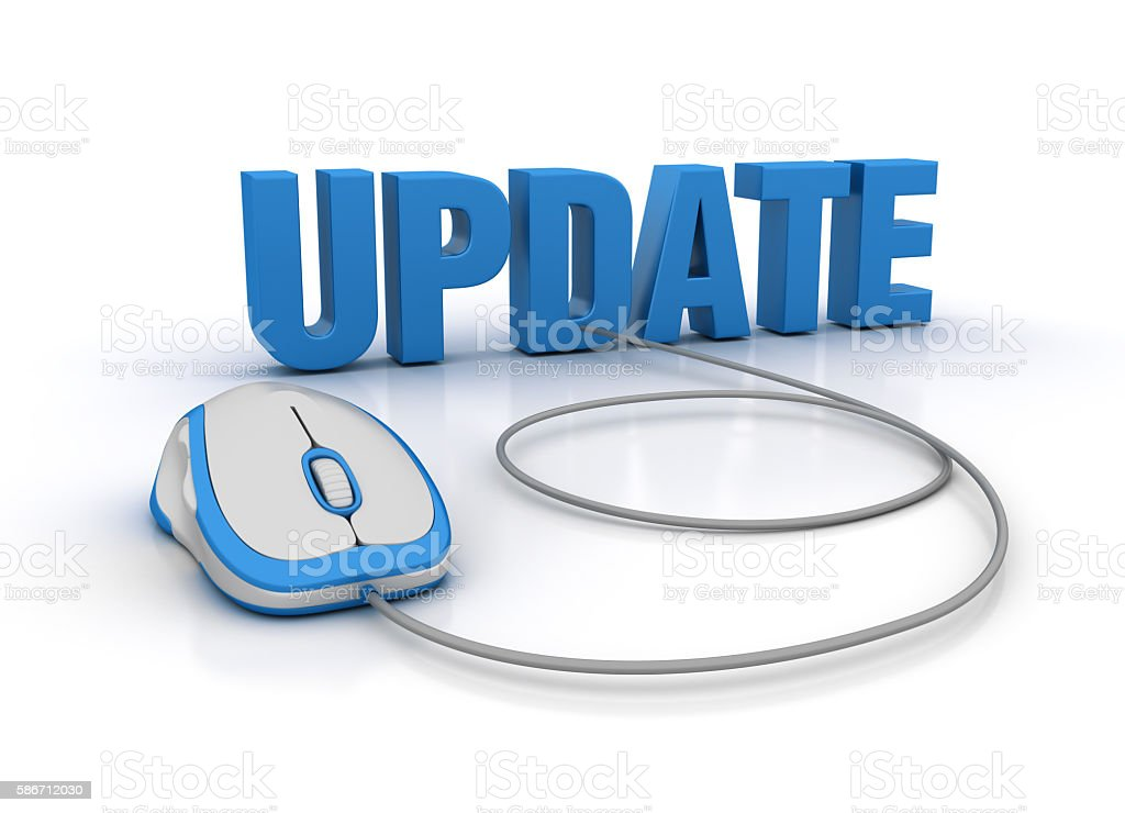 UPDATE Word with Computer Mouse stock photo