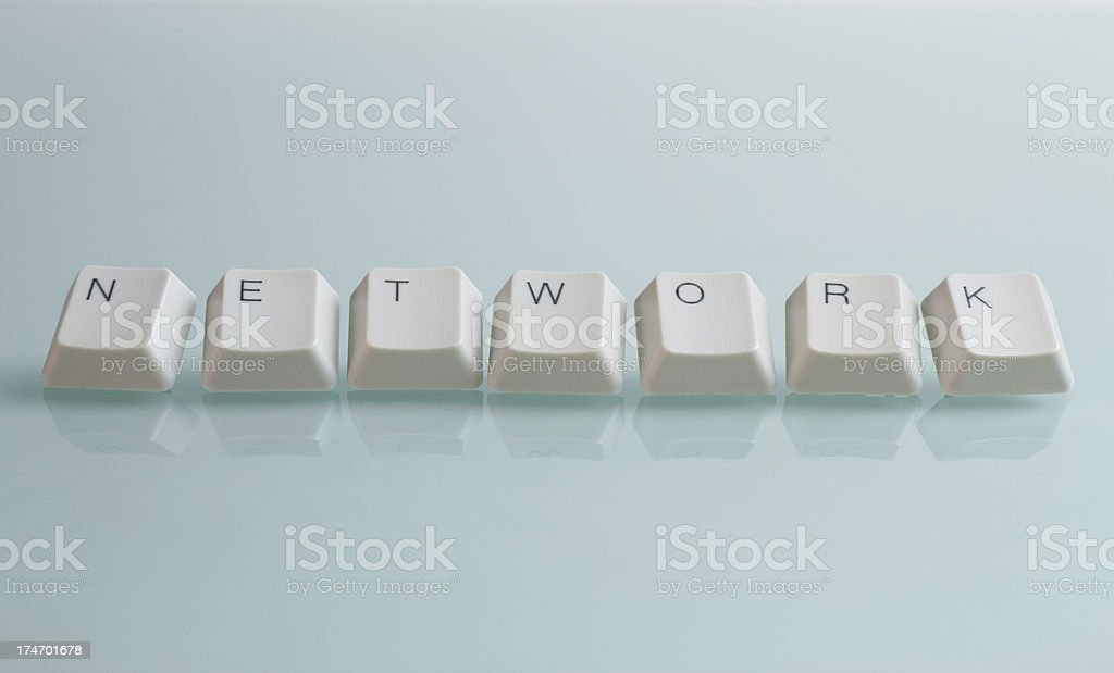 NETWORK Word with Keys royalty-free stock photo