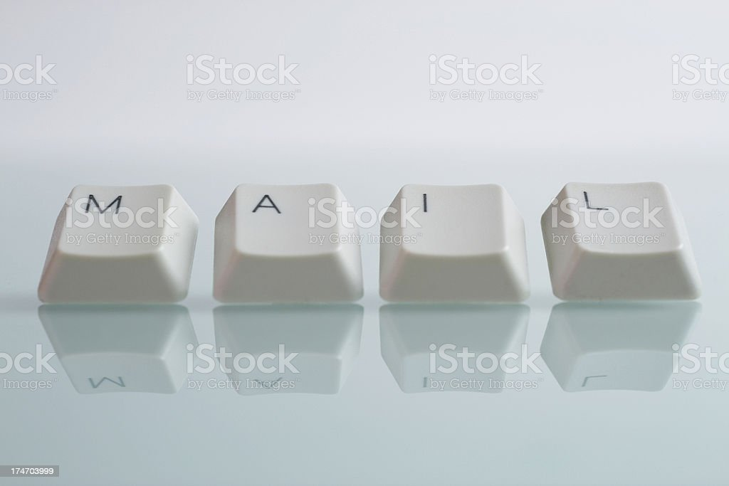 MAIL Word with Keys royalty-free stock photo