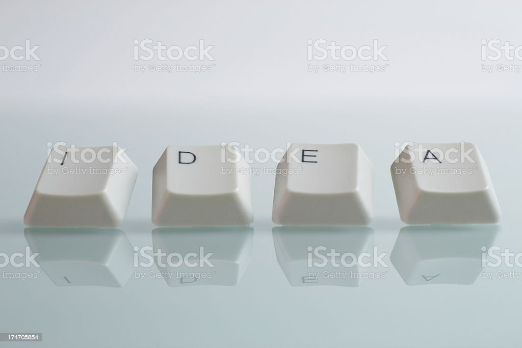 IDEA Word with Keys royalty-free stock photo