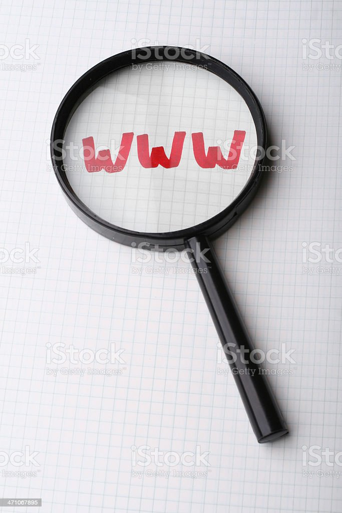 word WWW - Searching internet concept royalty-free stock photo