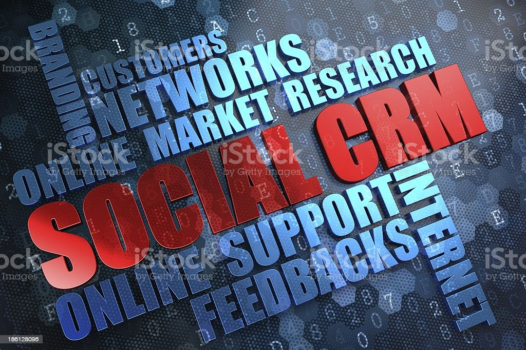 SCRM. Wordcloud Concept. stock photo