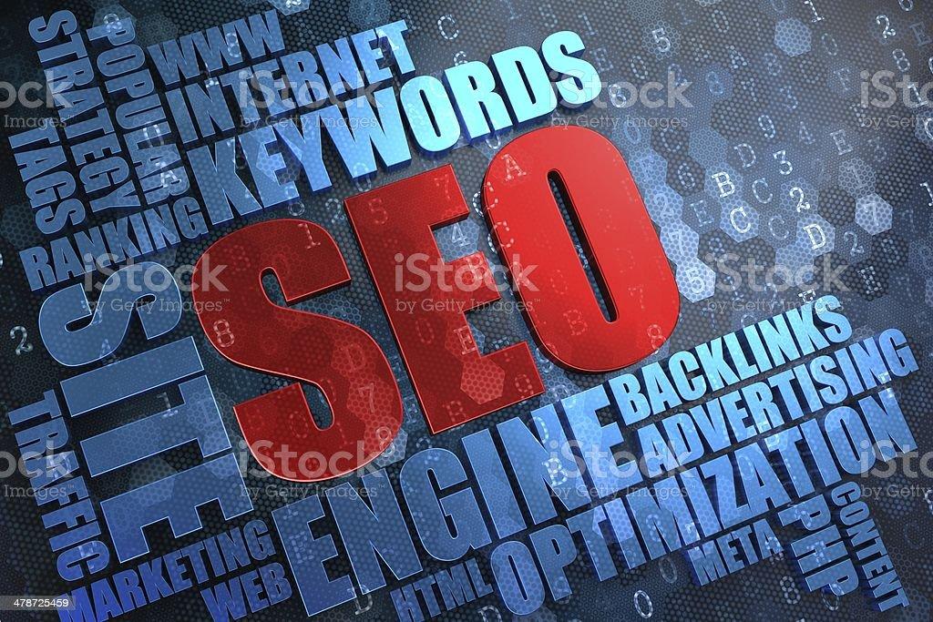 SEO -  Wordcloud Concept. stock photo