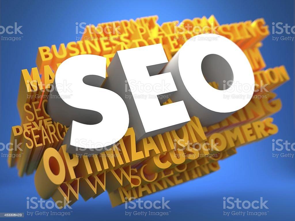 SEO. Wordcloud Internet Concept. stock photo
