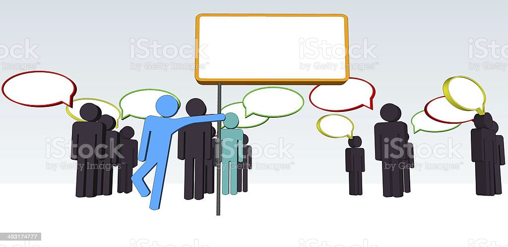 Wording of Business Communications stock photo