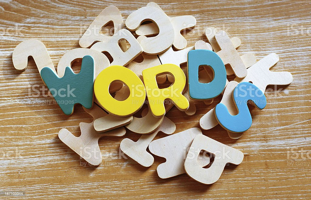 Words are Important stock photo