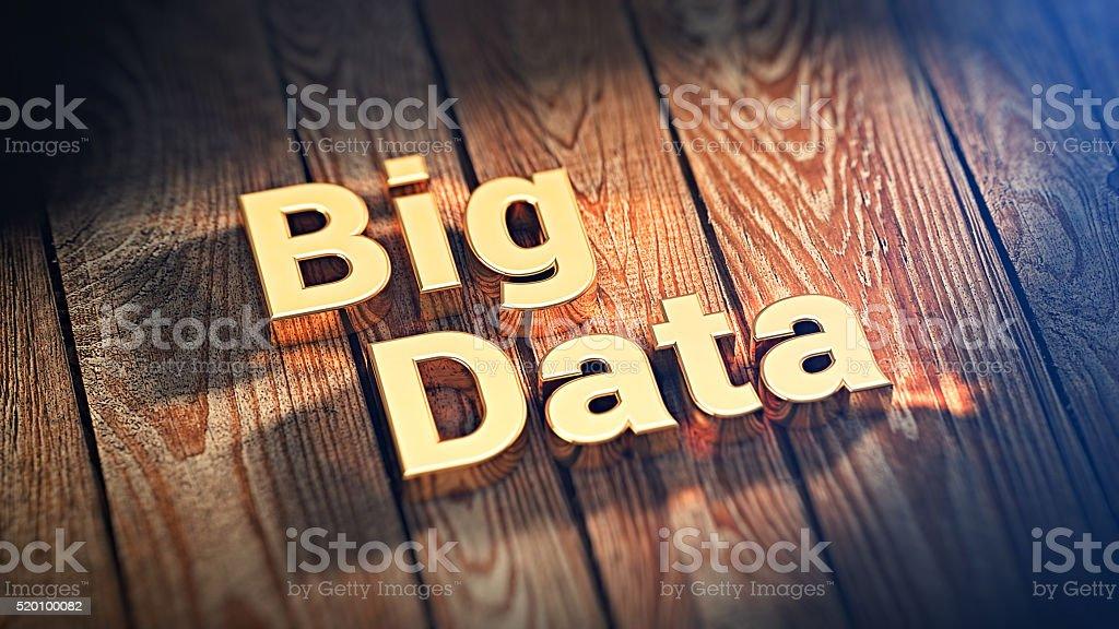Words Big Data on wood planks stock photo