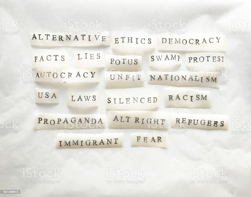 Words Collage stock photo