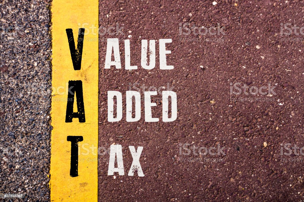 VALUE ADDED TAX  words concept stock photo