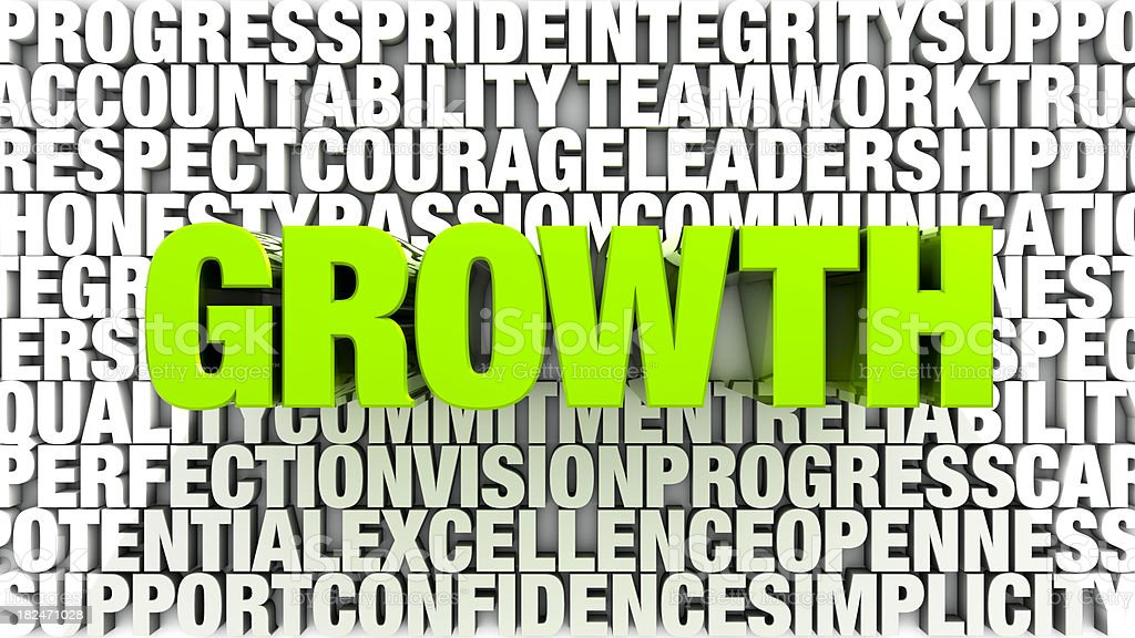 Words - Growth royalty-free stock photo