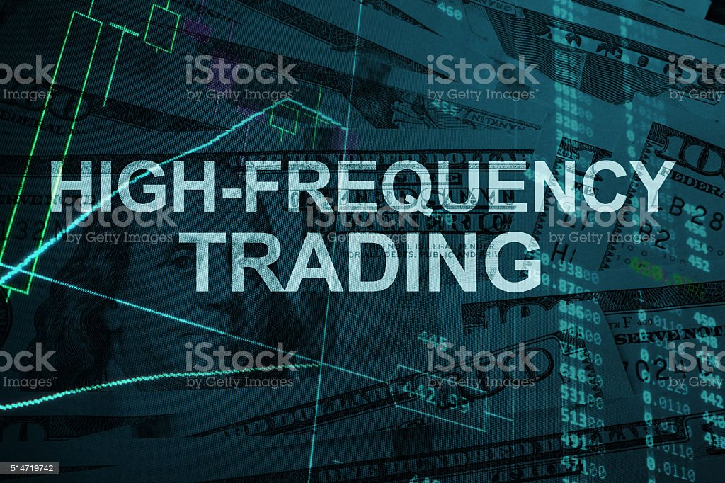 Words High-frequency trading  with the financial data. stock photo
