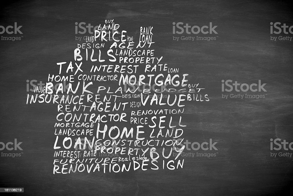 words in form of house royalty-free stock photo