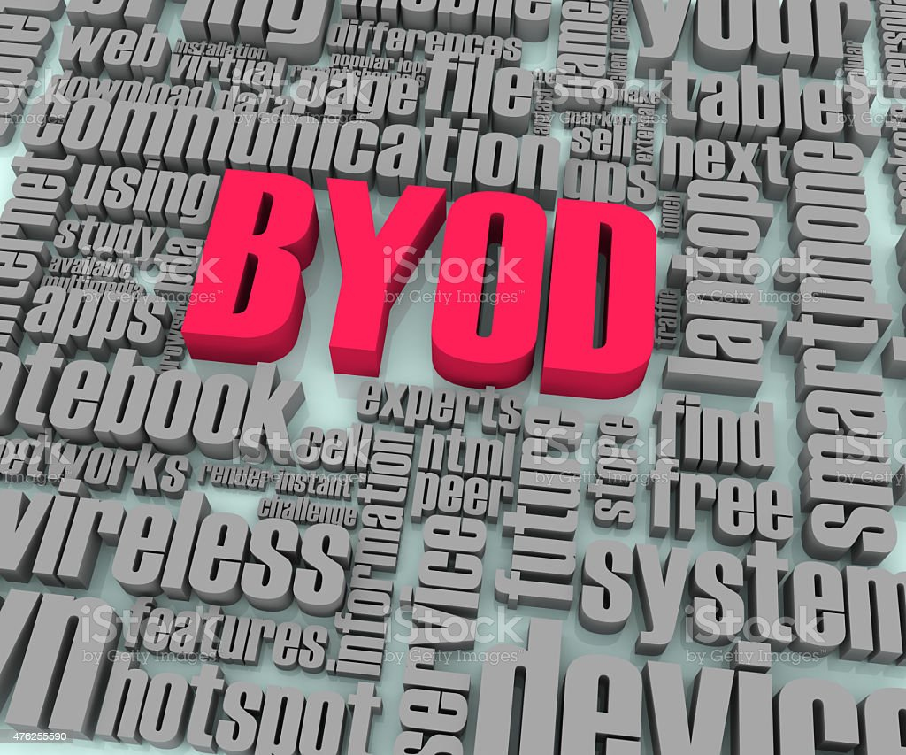 BYOD Words in Perspective stock photo