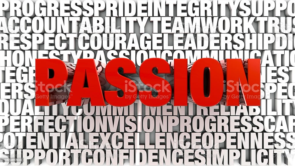 Words - Passion stock photo