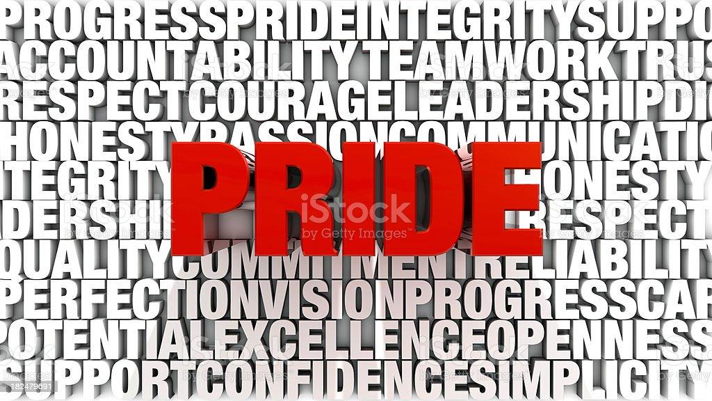 Words - Pride royalty-free stock photo