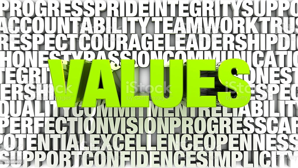 Words - Values royalty-free stock photo