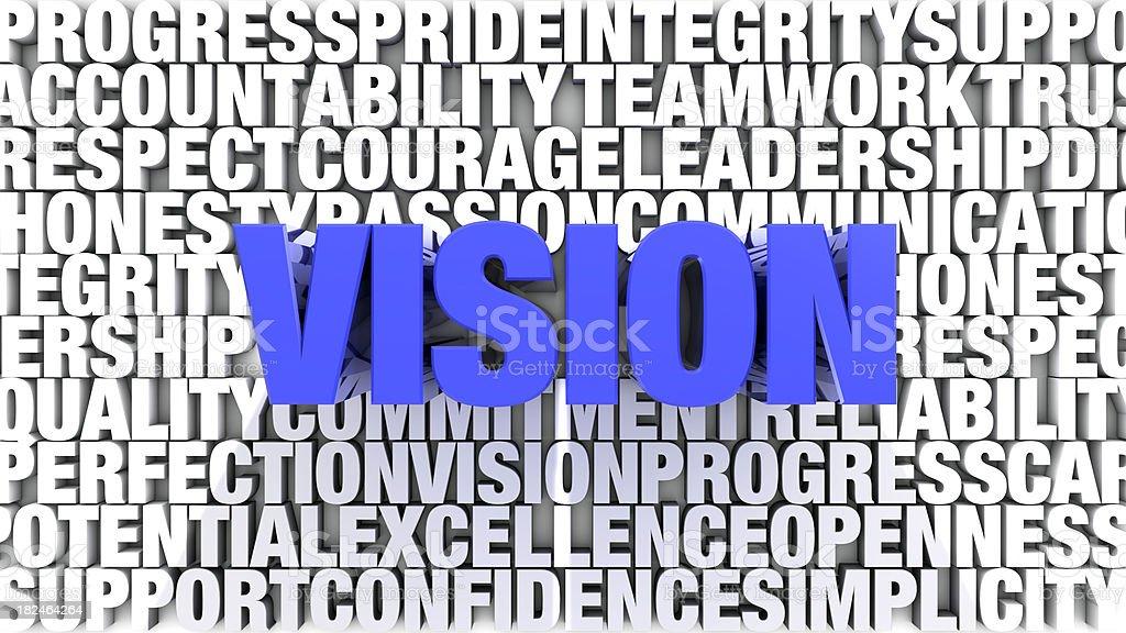Palavras-Vision foto royalty-free