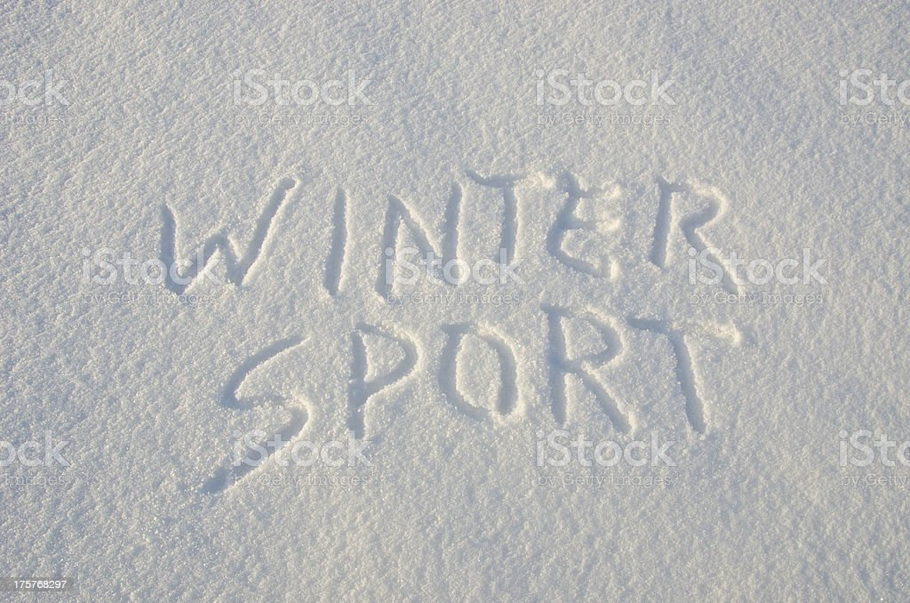 words winter sport on snow royalty-free stock photo