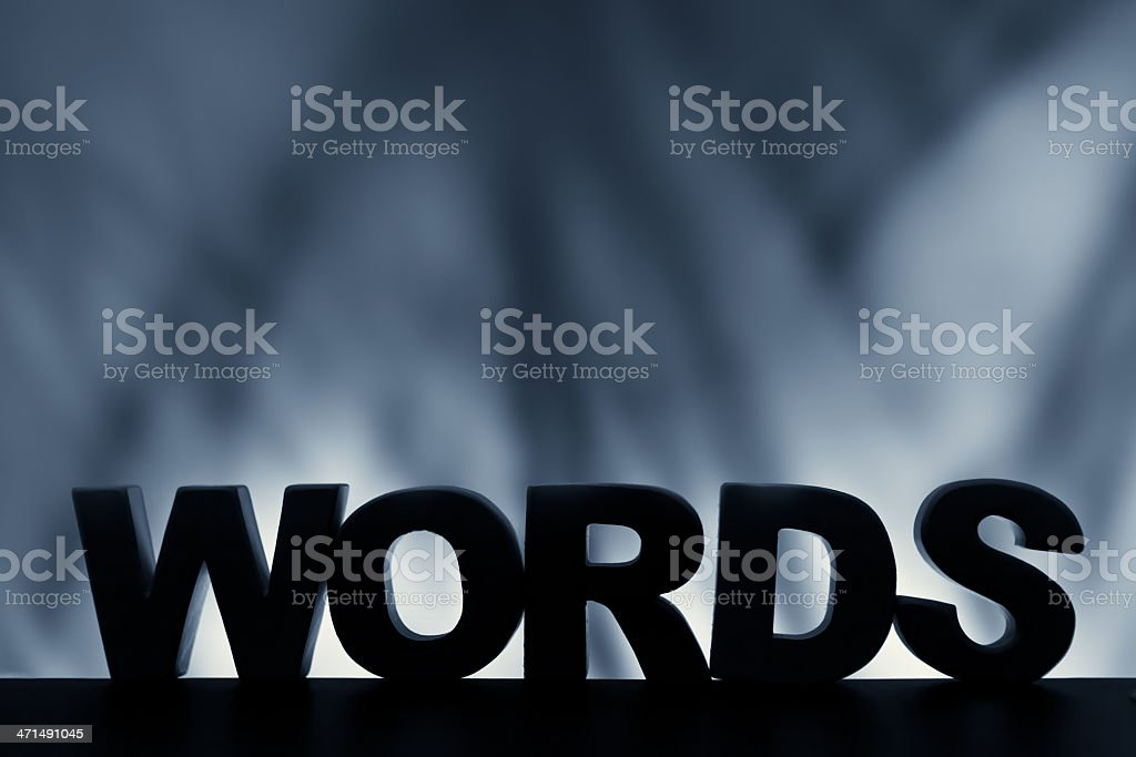 Words, wood letter word royalty-free stock photo