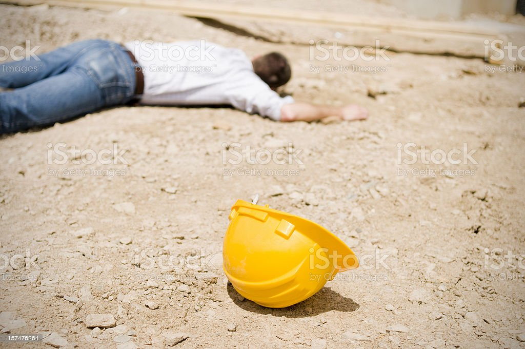 Work Accident, Construction Site royalty-free stock photo