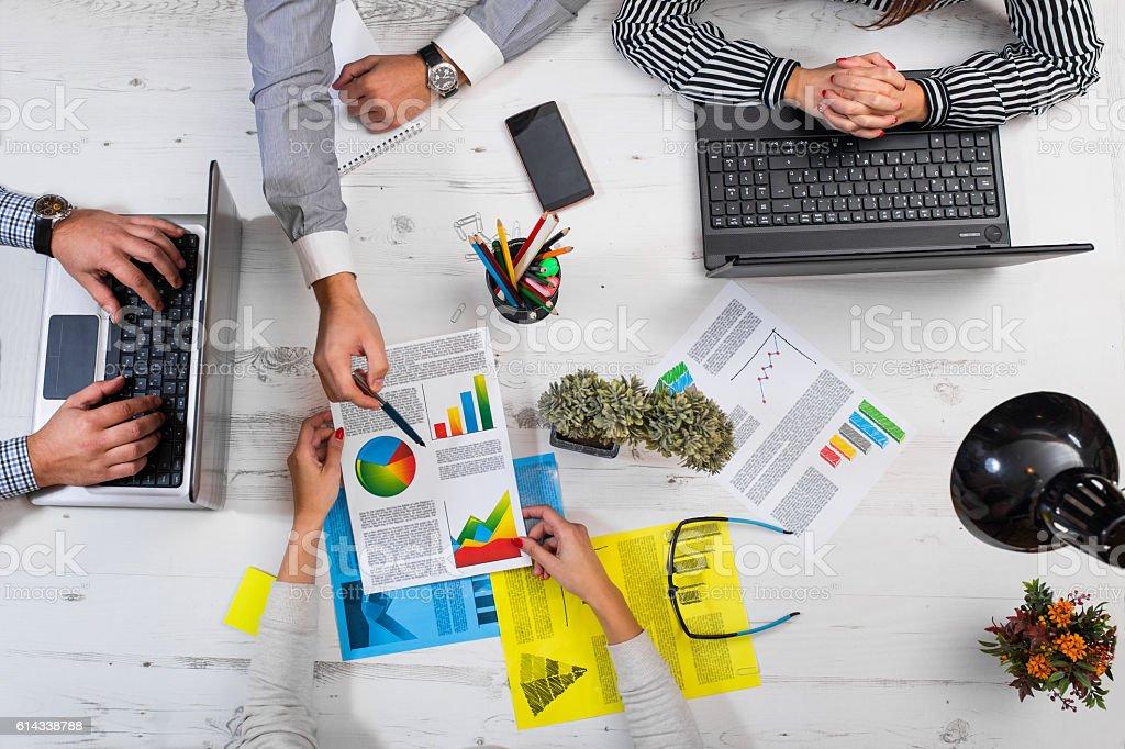 Work analysis stock photo