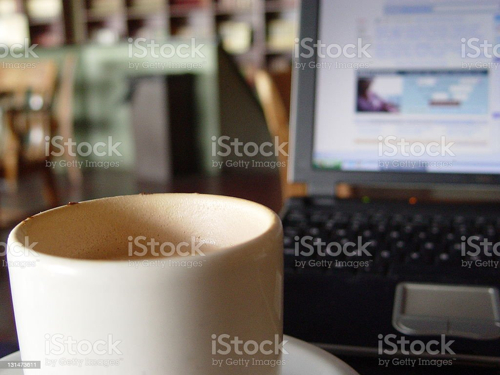 work and coffee royalty-free stock photo