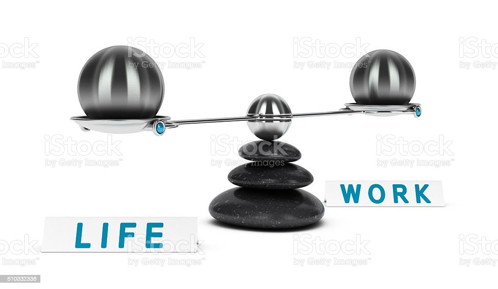 Work and Life Balance Dichotomy stock photo