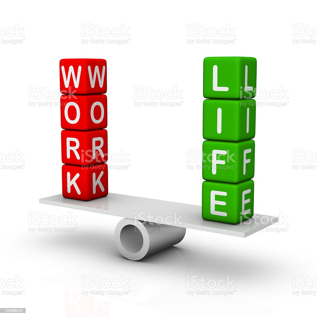 Work and Life Balance royalty-free stock photo