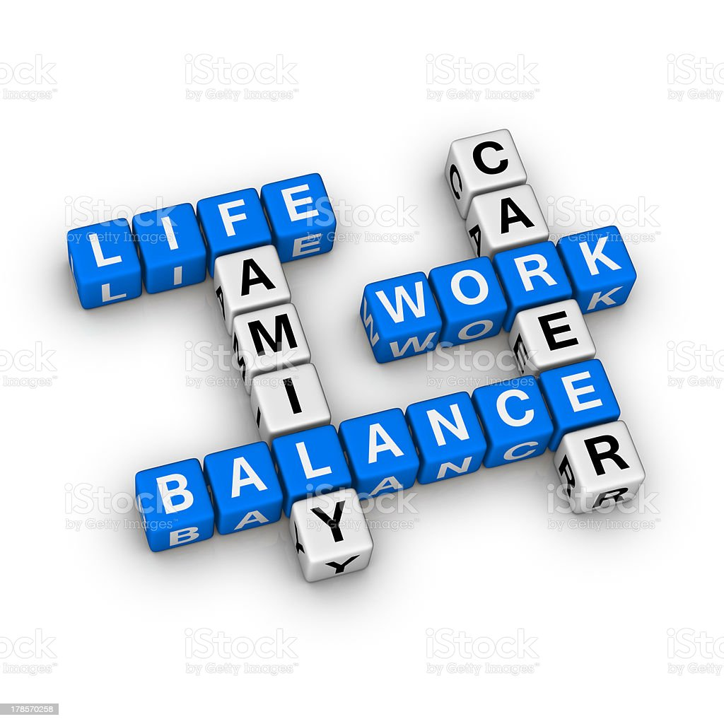 Work and Life Balance stock photo