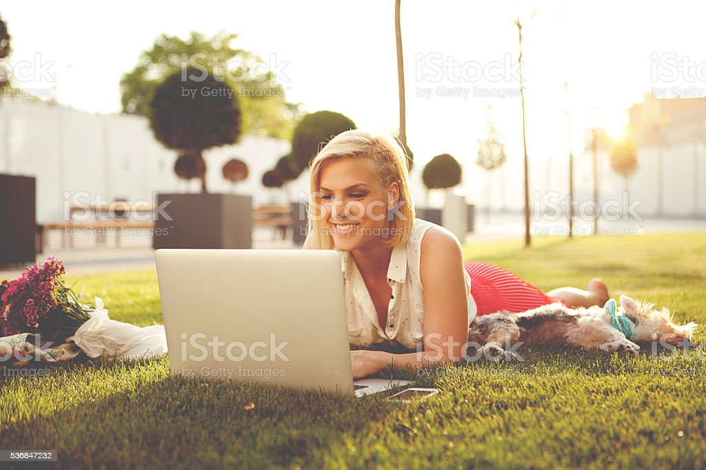 Work and pleasure stock photo