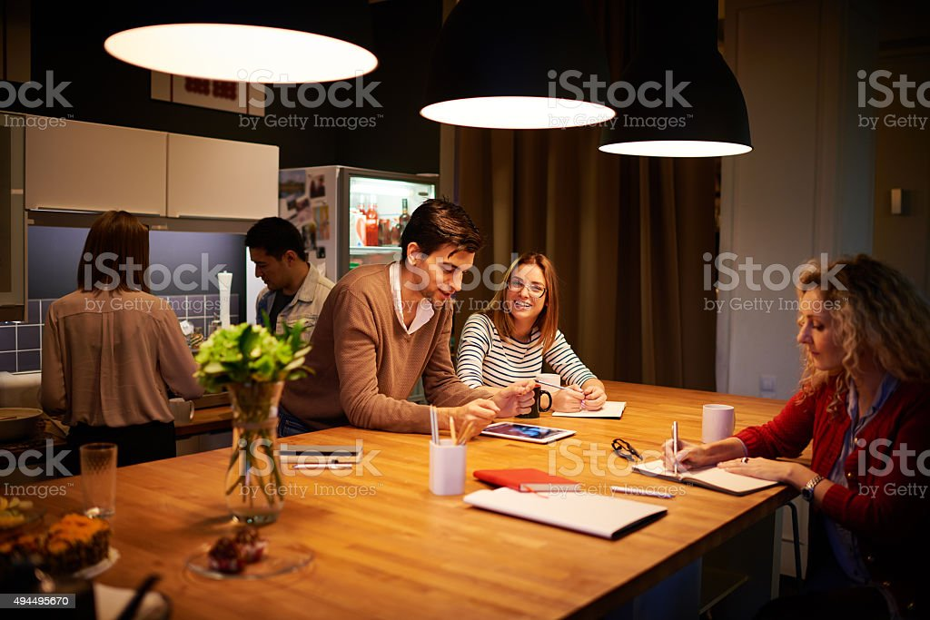 Work and rest stock photo