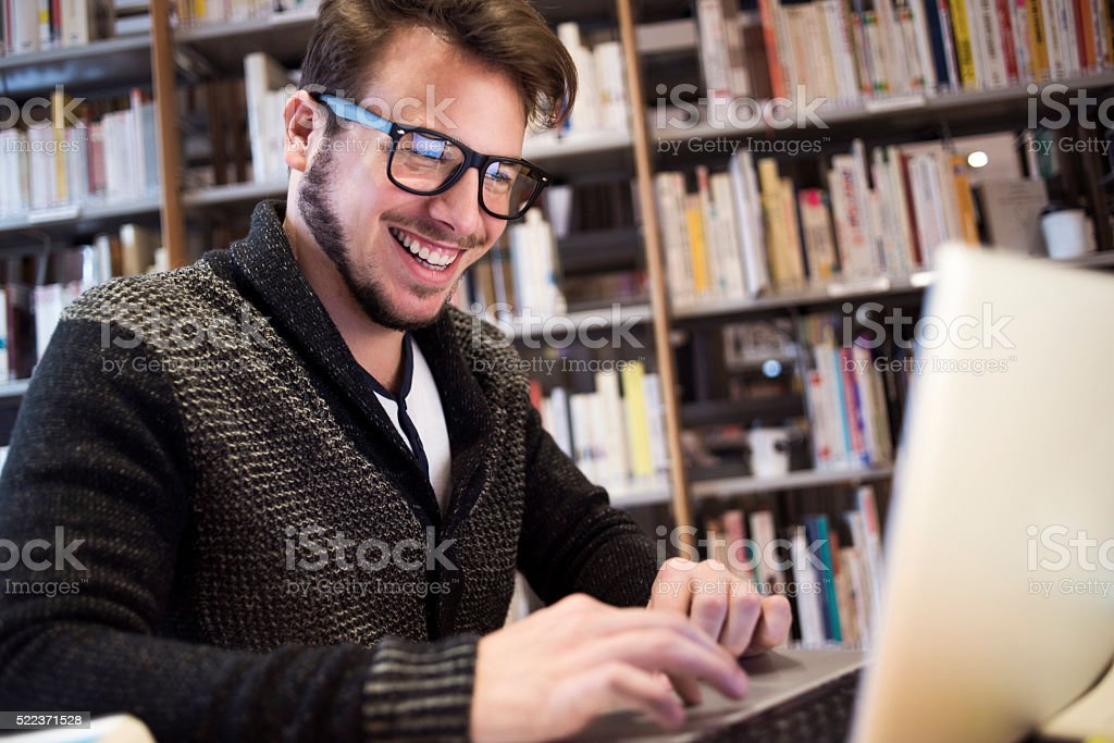 Work and smile stock photo