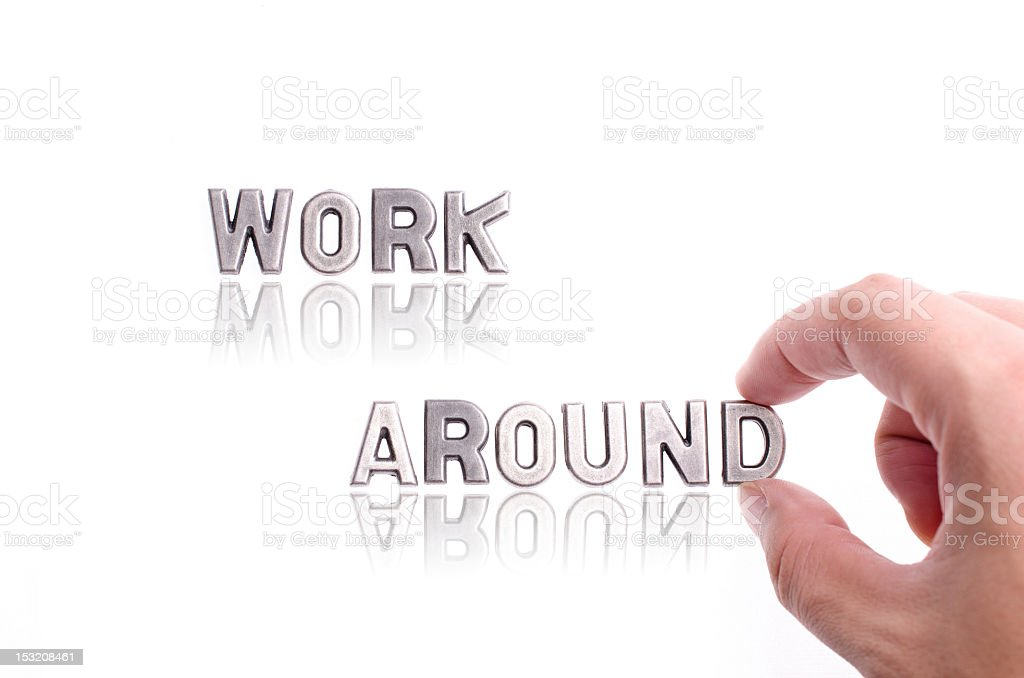 work around stock photo