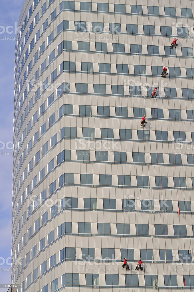 Work at height royalty-free stock photo