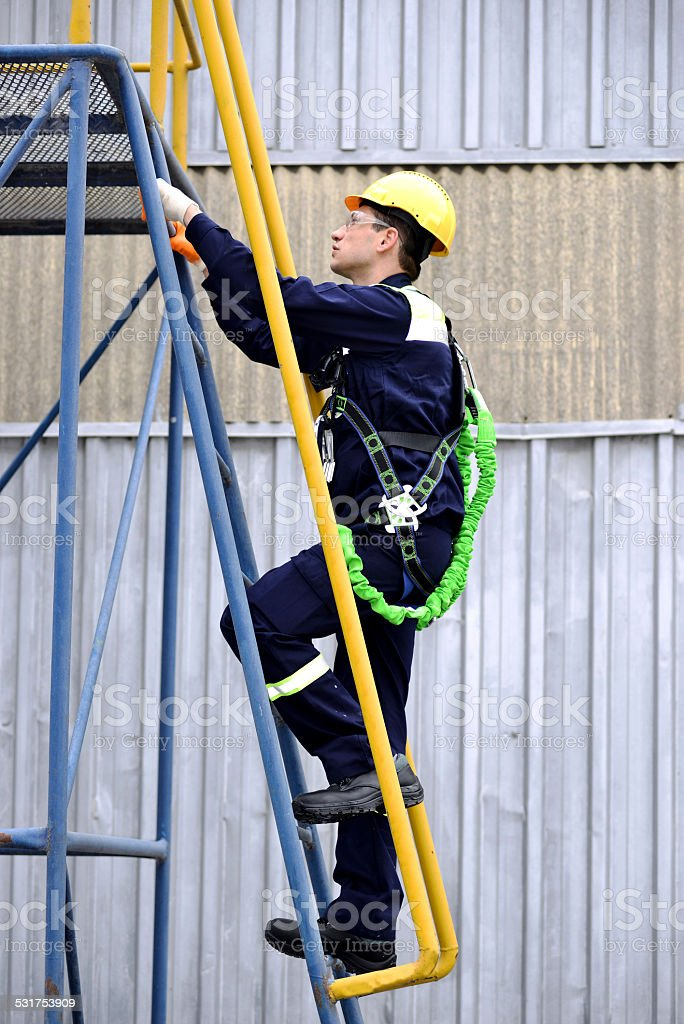 Work at Height Preparation stock photo