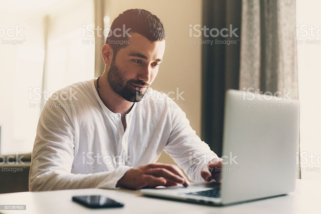 Work at home stock photo