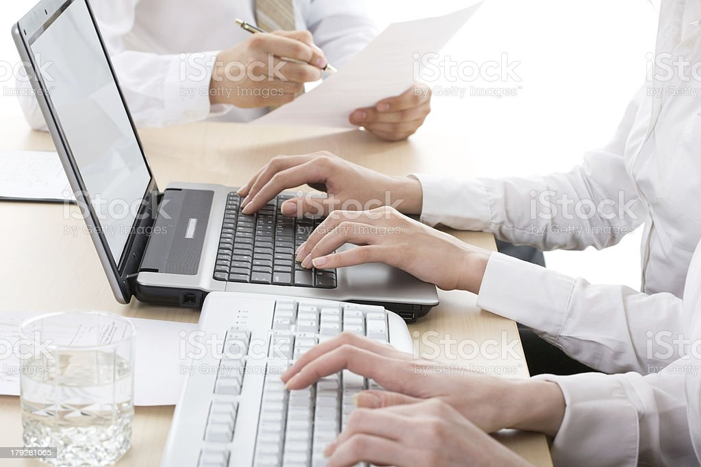 Work at office royalty-free stock photo