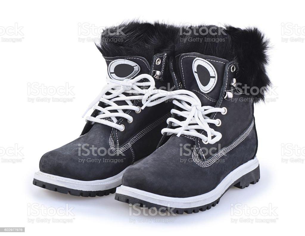 Work boot stock photo