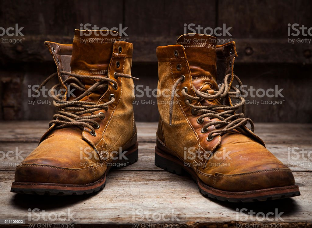 Work boots stock photo