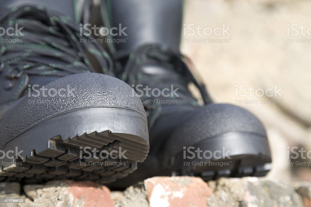Work boots with steel toe. royalty-free stock photo