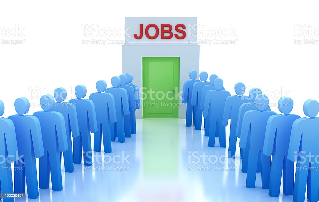 Work Centre : People looking for a job royalty-free stock photo