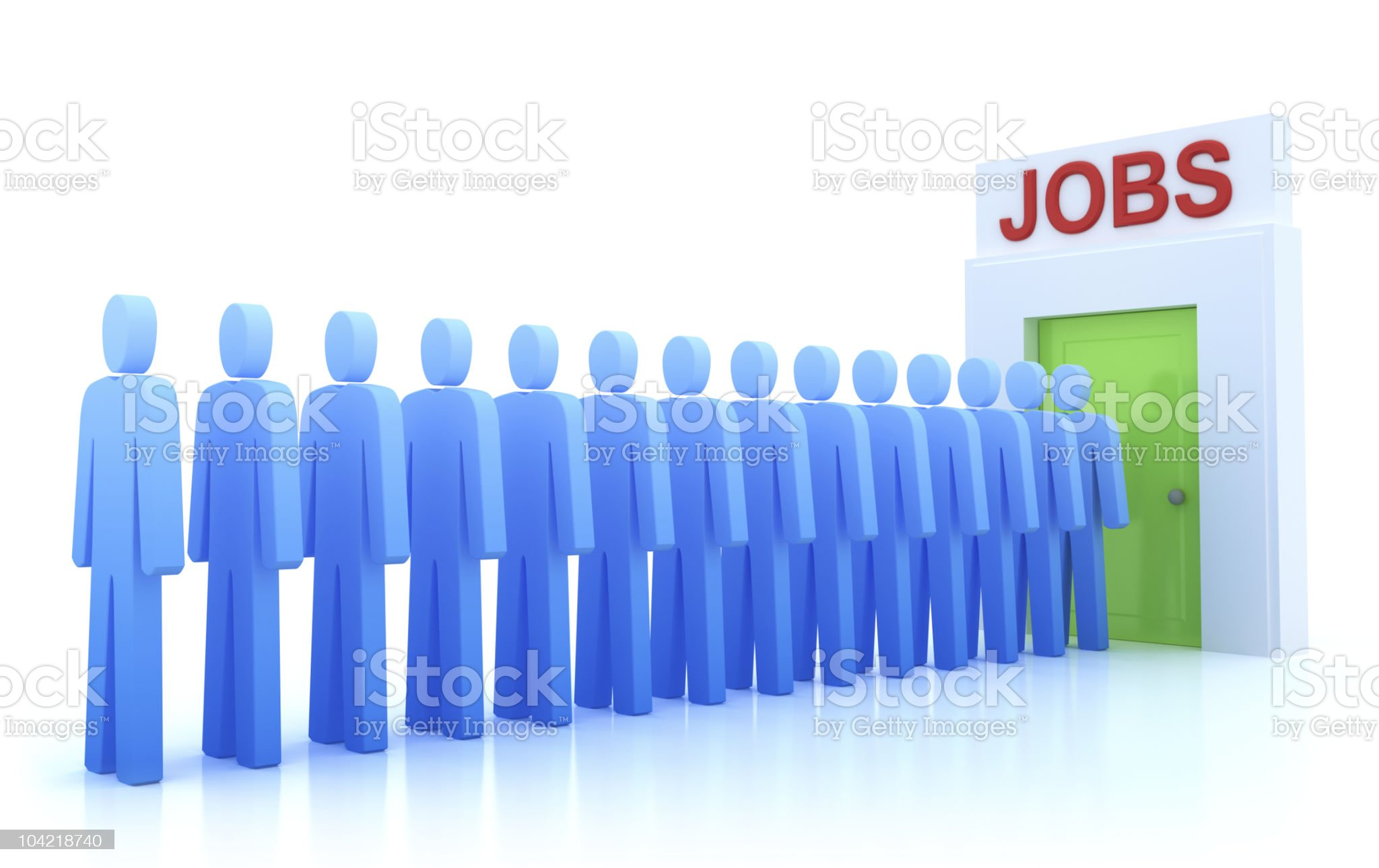 Work Centre : The unemployed looking for a job royalty-free stock photo