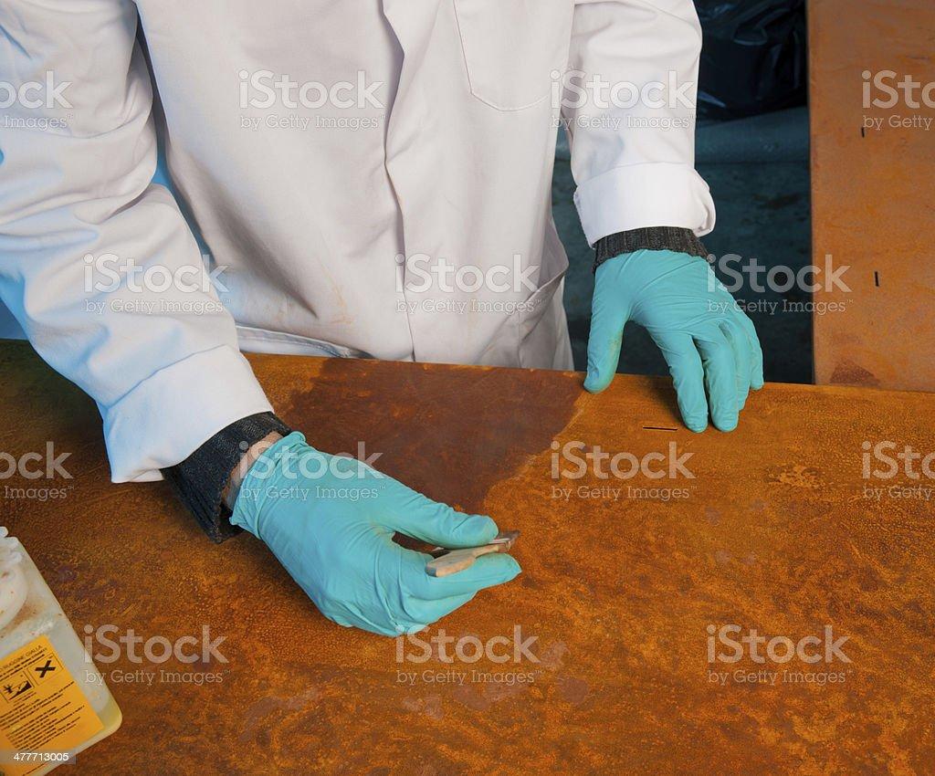 Work coating stock photo