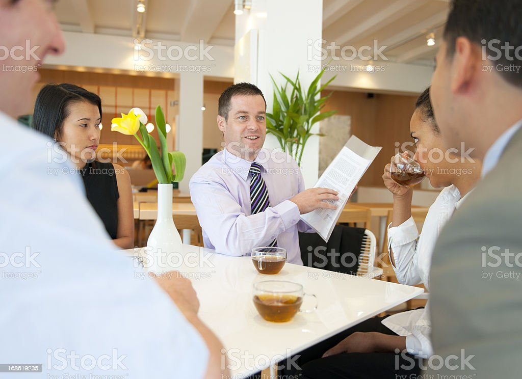 Work Discussion royalty-free stock photo